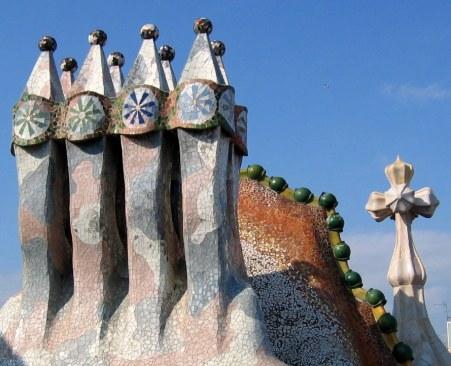 Roof top of Casa Batlló in Barcelona by AntoniGaudi